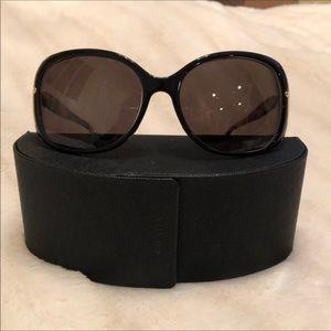 Tortoise Shell and Black PRADA Sunglasses